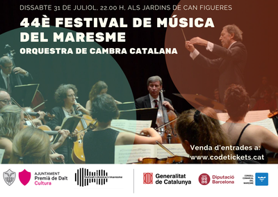 44è Festival de Música del Maresme: actuació de l'Orquestra de Cambra Catalana