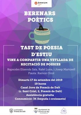 Berenars poètics: tast de poesia d'estiu