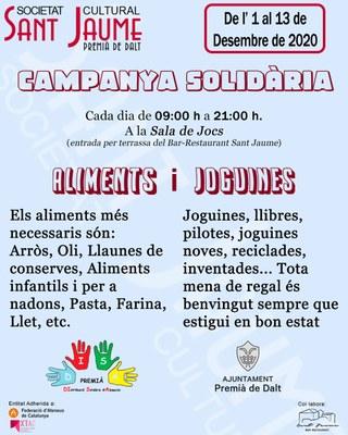 Campanya solidària de recollida d'aliments i joguines