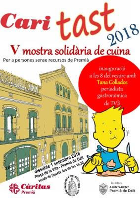 Caritast: V mostra solidària de cuina