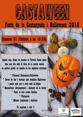 Castaween: Festa de la Castanyada i Halloween 2018 a l'Escola Santa Anna