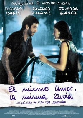 """Cinefòrum.  'Cicle J.J CAMPANELLA'. Projecció de la pel·lícula """"El mismo amor, la misma lluvia"""""""