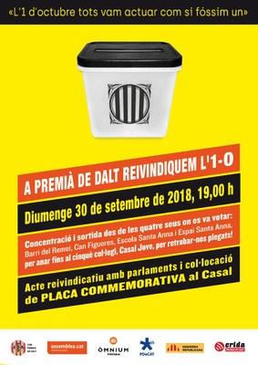 Commemoració del referèndum 1-O