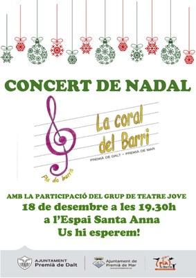 Concert de Nadal a càrrec de la Coral del Barri