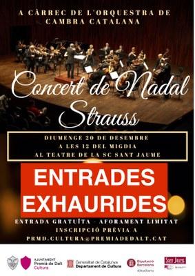 Entrades exhaurides al Concert de Nadal a càrrec de l'Orquestra de Cambra Catalana
