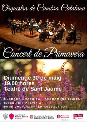 Concert de Primavera a càrrec de l'Orquestra de Cambra Catalana