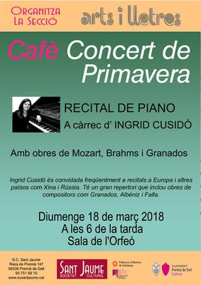 Concert de primavera a càrrec d'Íngrid Cusidó