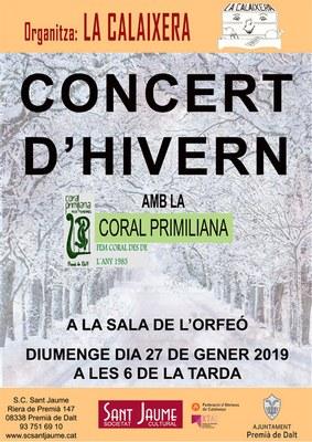 Concert d'hivern amb la Coral Primiliana