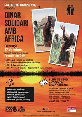 Dinar solidari amb Àfrica