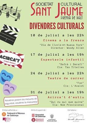 Divendres culturals: Teatre de carrer amb l'espectacle 'Foc' de la Cia. L'Avalot