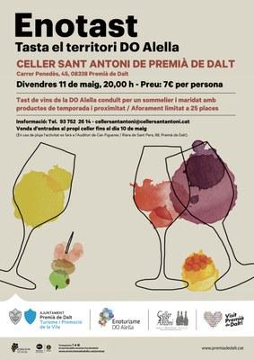 Esgotades totes les places de l'Enotast 'Tasta el territori DO Alella' al Celler Sant Antoni