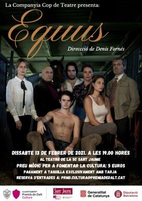 Equus, a càrrec de la Companyia Cop de Teatre