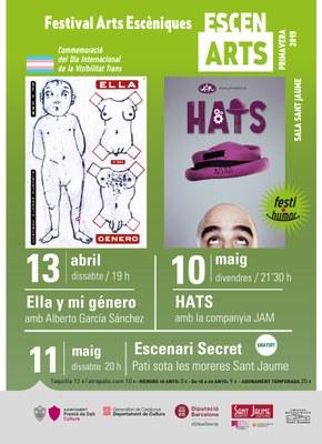 """EscenARTS Primavera Festihumor """"Hats"""" amb la companyia JAM"""