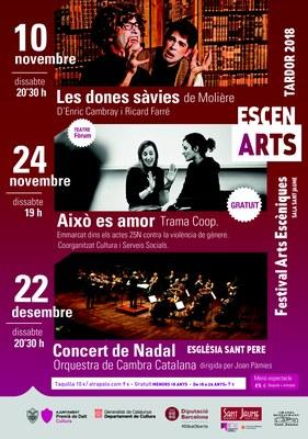 EscenARTS tardor: Concert de Nadal a càrrec de l'Orquestra de Cambra Catalana
