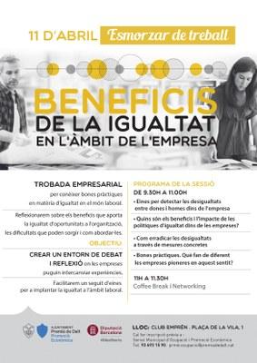 Esmorzar de treball: Beneficis de la Igualtat en l'àmbit de l'empresa