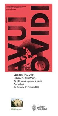 """Espectacle """"Avui Ovidi"""""""