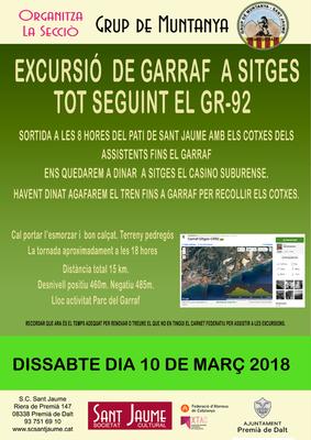Excursió del  Grup de Muntanya del Garraf al Sitges