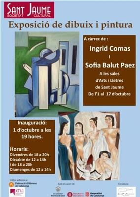 Exposició a càrrec de l'Ingrid Comas i de Sofia Balut Paez