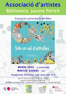 """Exposició i presentació del llibre """"Sota un cel d'estrelles"""", amb il·lustracions de Marga Cruz i text de Montse Assens"""