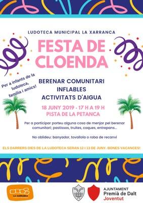 Festa de cloenda de la Ludoteca Municipal La Xarranca: berenar comunitari, inflables i activitat d'aigua