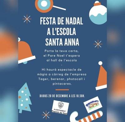 Festa de Nadal a l'Escola Santa Anna