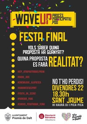 Festa final 'Wave up!', procés participatiu joves de Premià de Dalt