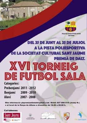 Festes de Sant Jaume: final del XVI Torneig de futbol sala
