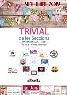 Festes de Sant Jaume: trivial de les seccions