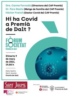 Fòrum i Societat: Hi ha Covid-19 a Premià de Dalt?
