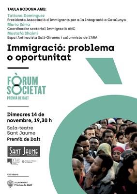 Immigració: problema o oportunitat