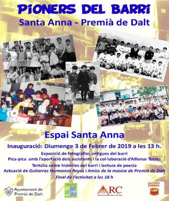 Inauguració del'exposició fotogràfica 'Pioners del barri Santa Anna de Premià de Dalt'