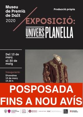 Posposada la inauguració de l'exposició 'Univers Planella'