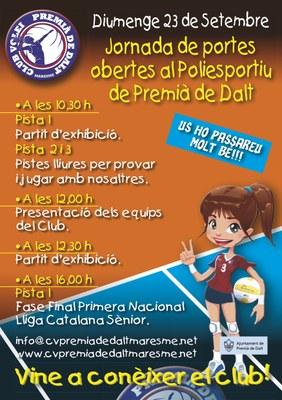 Jornada de portes obertes i presentació equips del Club Vòlei Premià de Dalt