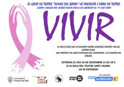 La Marató: obra de teatre 'Vivir' a càrrec del Grup de Teatre 'Dones del BArri'