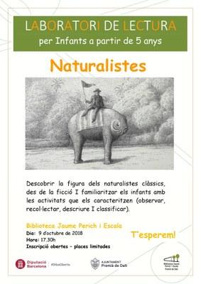 Laboratori de lectura: 'Naturalistes'