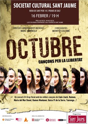 'Octubre', cançons per la llibertat