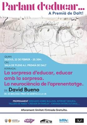 Parlant d'educar... a Premià de Dalt amb David Bueno, doctor en Biologia i professor de genètica a la UB