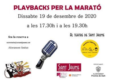 Playbacks per La Marató de TV3