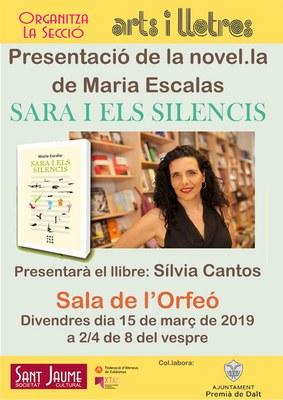 """Presentació de la novel·la de Maria Escales """"Sara i els silencis"""""""
