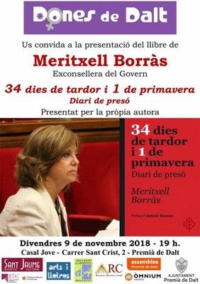 """Presentació del llibre """"34 dies de tardor i 1 de primavera. Diari de presó"""", de Meritxell Borràs"""