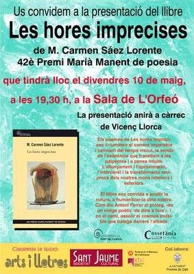 Presentació del llibre guanyador del 42è Premi Marià Manent de Poesia