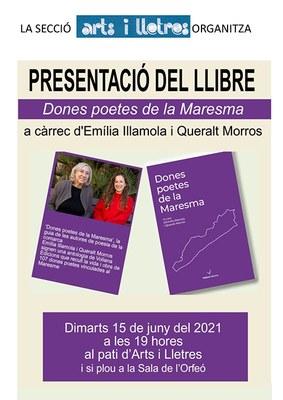 """Presentació del llibre """"Dones poetes de la Maresma""""."""
