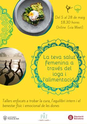 Programa de salut femenina: Ioga per a les caderes, a càrrec de la Patrícia Alonso (assessora nutricional i instructora de ioga).