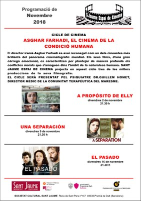 Projecció de 'El Pasado', dins del cicle de cinema 'Asghar Farhadi, el cinema de la condició humana'.