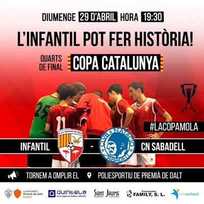 Quarts de final de la Copa Catalunya de Futbol Sala, Infantil CFS Premià de Dalt - CN Sabadell