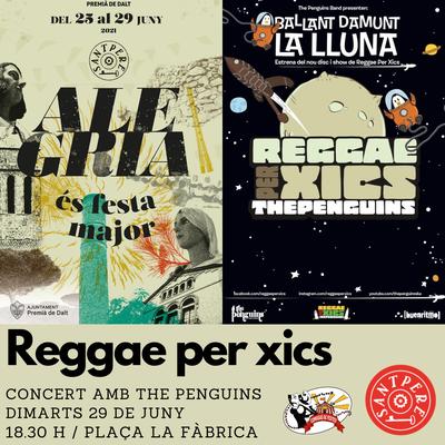 Sant Pere 2021: Reggae per xics amb The Penguins