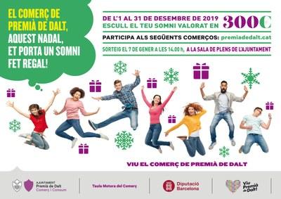 Sorteig final de la campanya 'El comerç de Premià de Dalt, aquest Nadal et porta un somni fet regal!