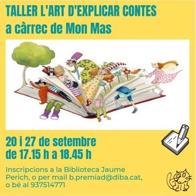 Taller 'L'art d'explicar contes', a càrrec de Mon Mas