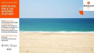 Taula rodona: Què es vol fer a les nostres platges?