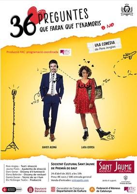Teatre: '36 Preguntes que faran que t'enamoris, o no', una comèdia de Pere Anglas